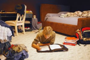 Teen Homework in Bedroom